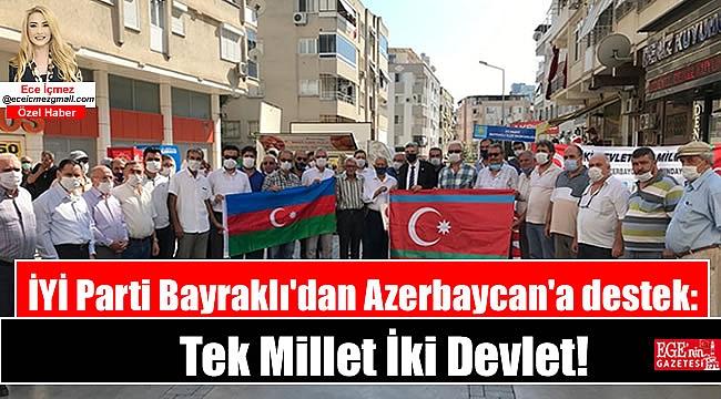İYİ Parti Bayraklı'dan Azerbaycan'a destek: Tek Mi̇llet İki̇ Devlet