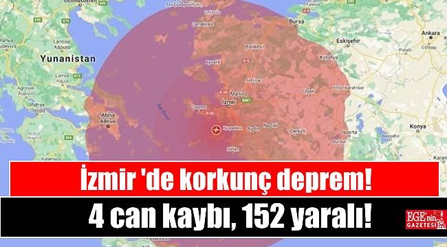 İzmir'de korkunç deprem: 4 can kaybı, 152 yaralı