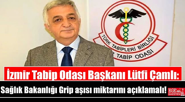 İzmir Tabip Odası Başkanı Lütfi Çamlı: Sağlık Bakanlığı Grip aşısı miktarını açıklamalı
