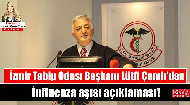 İzmir Tabip Odası Başkanı Lütfi Çamlı'dan İnfluenza aşısı açıklaması