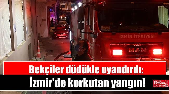 Bekçiler düdükle uyandırdı: İzmir'de korkutan yangın