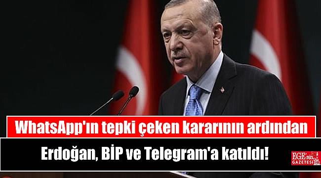 WhatsApp'ın tepki çeken kararının ardından Erdoğan, BİP ve Telegram'a katıldı