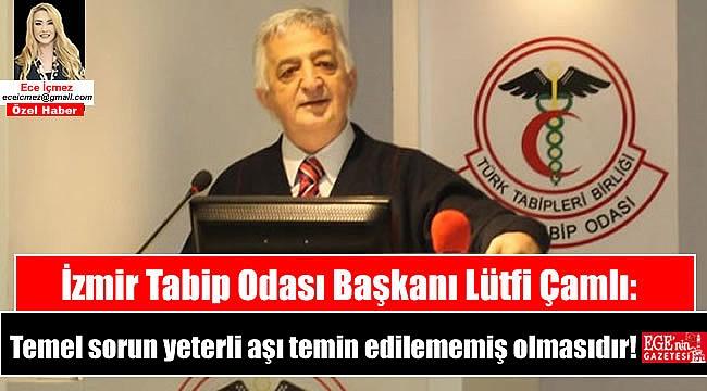 İzmir Tabip Odası Başkanı Lütfi Çamlı: Temel sorun yeterli aşı temin edilememiş olmasıdır