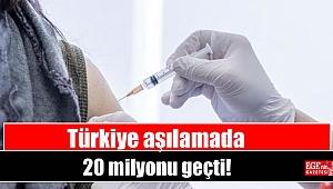 Türkiye aşılamada 20 milyonu geçti