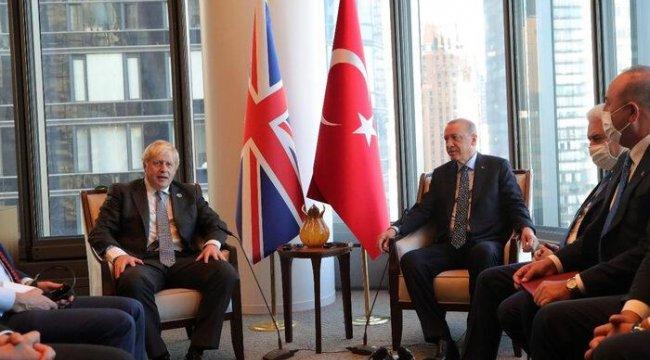 Cumhurbaşkanı Erdoğan, New York'ta İngiltere Başbakanı Johnson'la görüştü