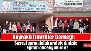 Bayraklı İzmirliler Derneği: Sosyal sorumluluk projelerimizde eğitim önceliğimizdir